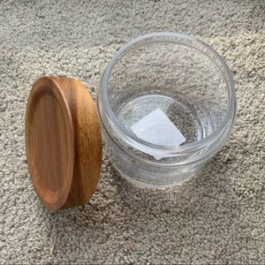3/$25 NWT Target wood and glass canister
